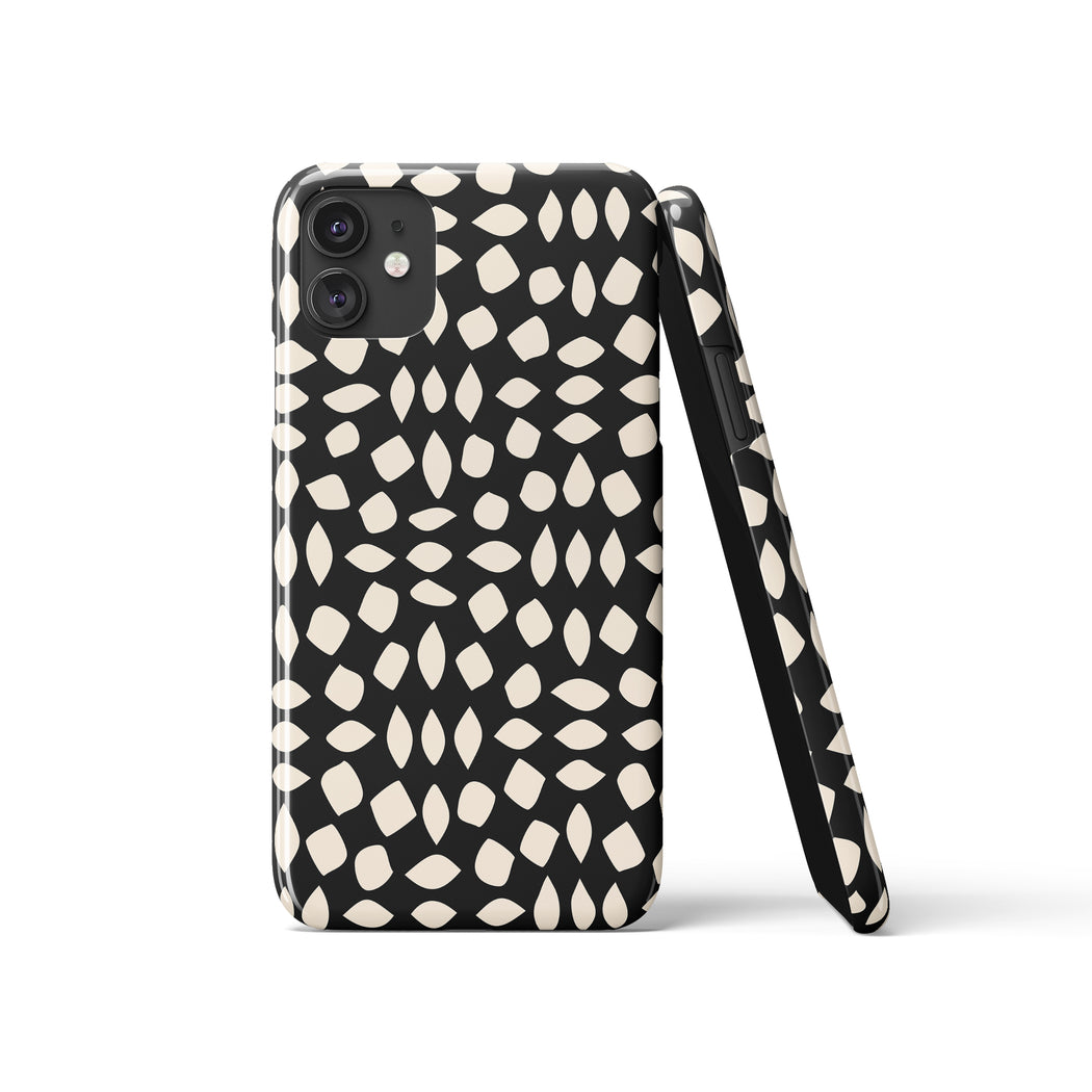 Abstract Black iPhone Case