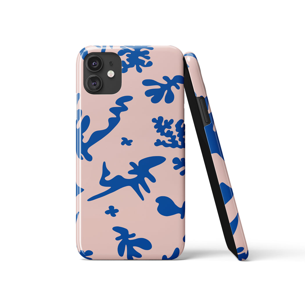 Pink and Blue iPhone Case