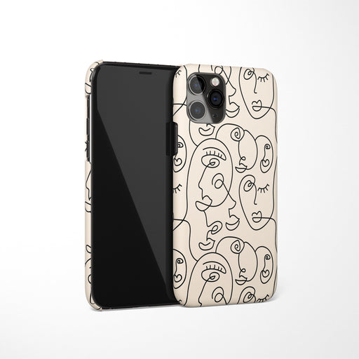 Line Art Drawing iPhone Case