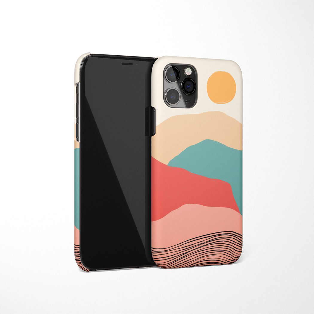 Mountains Illustration iPhone Case