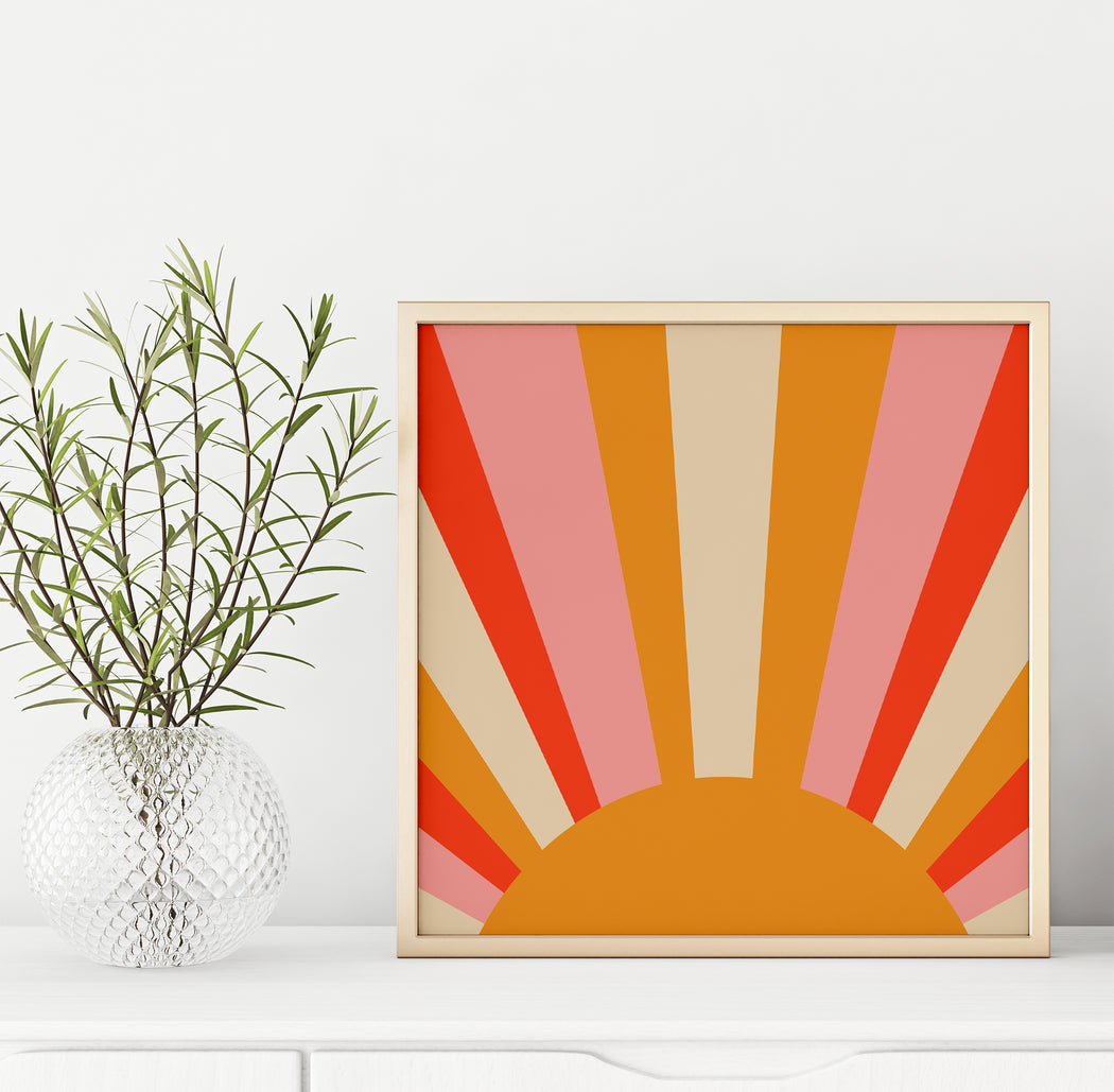 70s Inspired Sun Print - Shop posters, Art prints, Laptop Sleeves, Phone case and more Online!