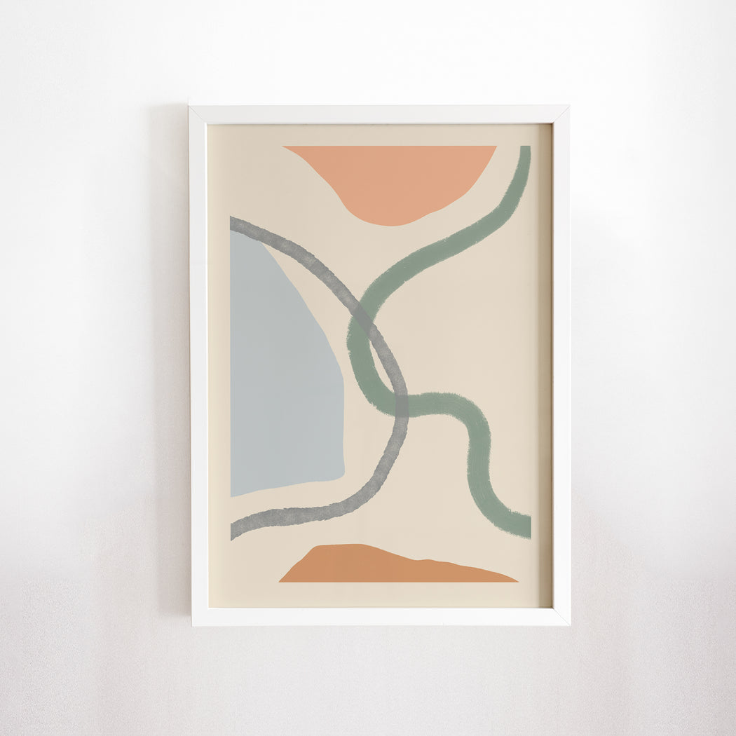 Pastel Abstract Print - Shop posters, Art prints, Laptop Sleeves, Phone case and more Online!