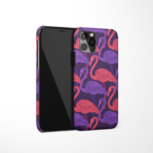 iPhone Case with Synthwave Flamingo