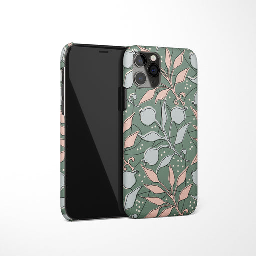 Green Floral Pattern iPhone Case