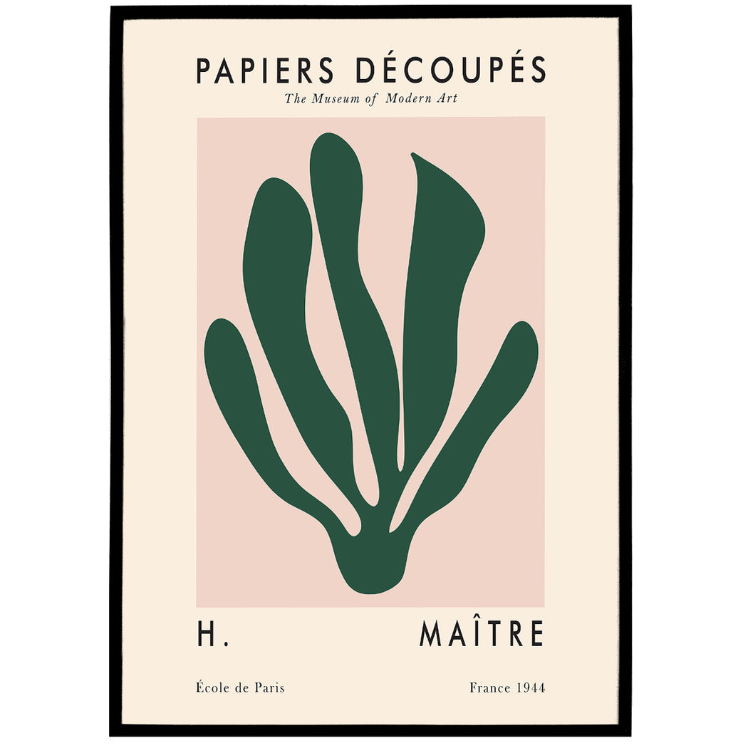 Cut-Outs Matisse Inspired Poster