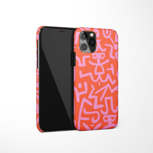Pink Drawing iPhone Case 2