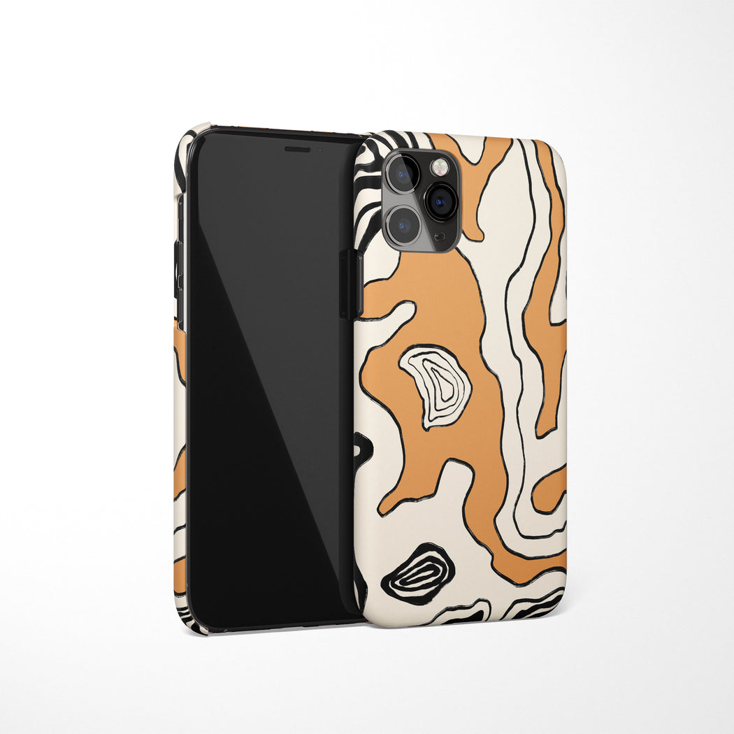 Beige Abstract iPhone Case