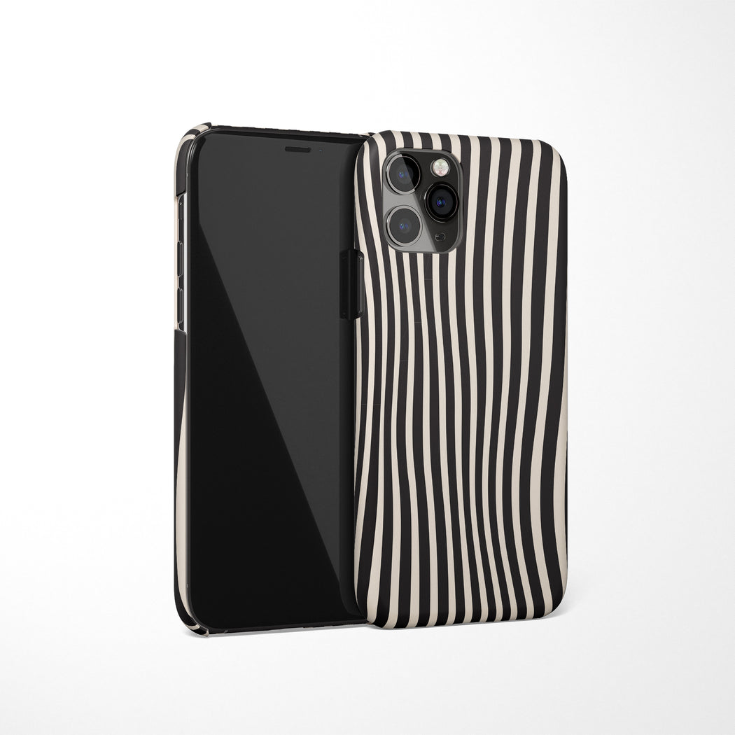 Black and White Trippy iPhone Case