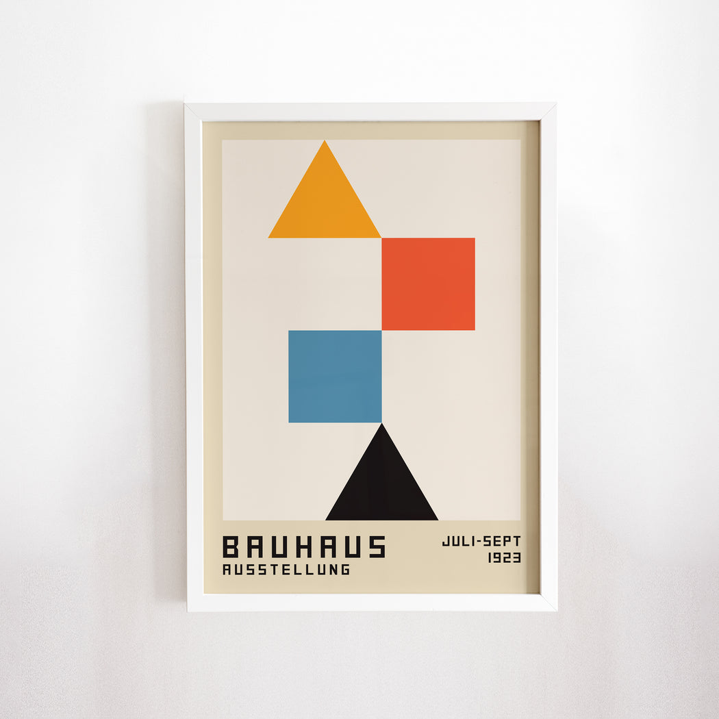 Bauhaus Triangles Poster