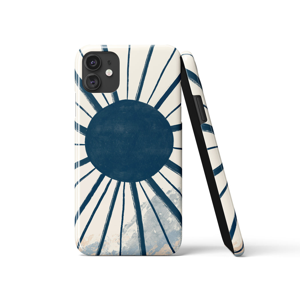 Blue Sun iPhone Case