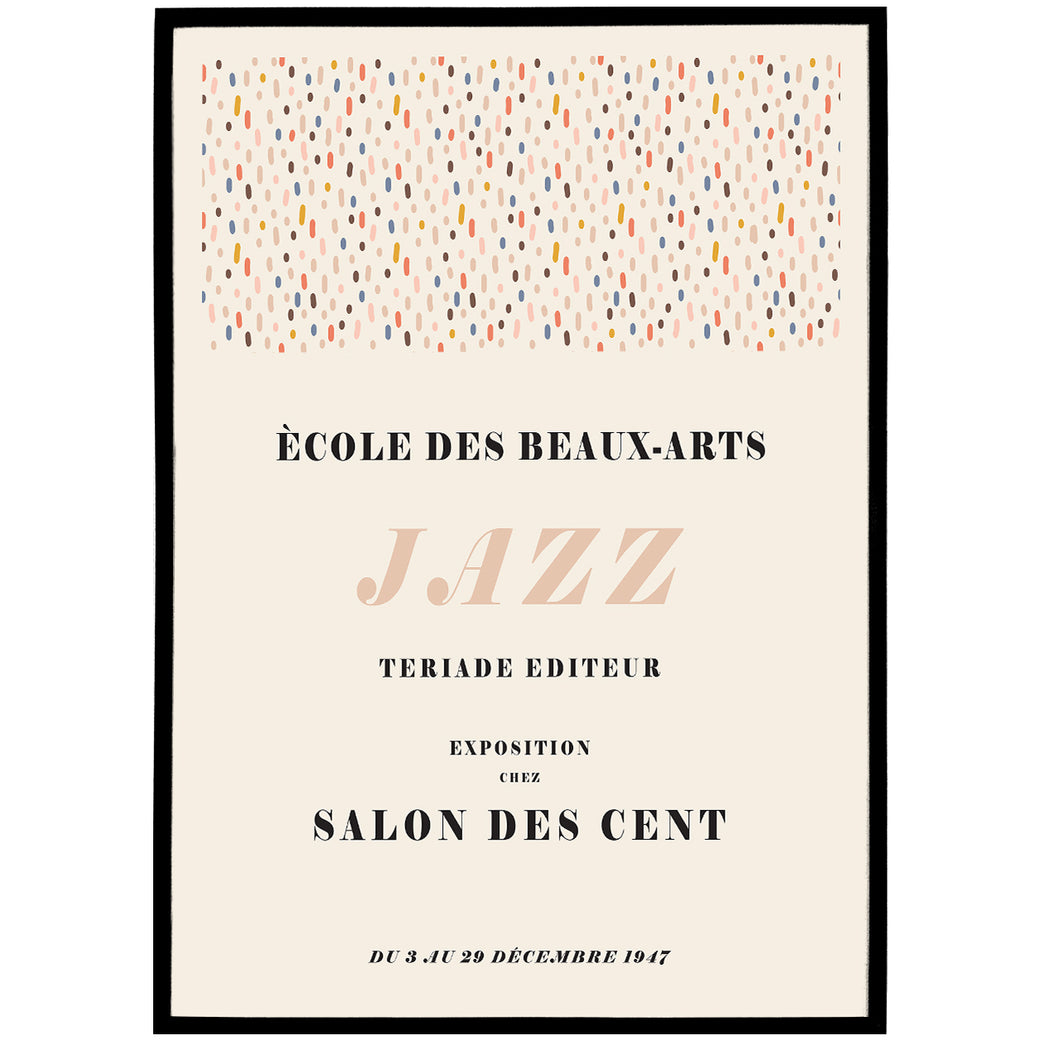 French Jazz Art Poster