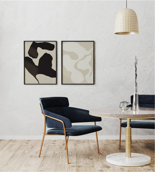 Set of 2 Abstract Shapes Prints