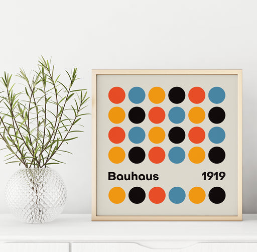 Bauhaus Dots Print - Shop posters, Art prints, Laptop Sleeves, Phone case and more Online!