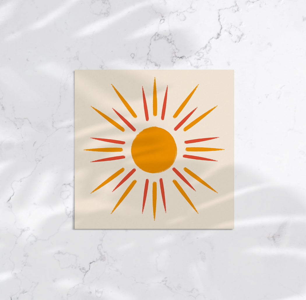 Handdrawn Sun Art Print