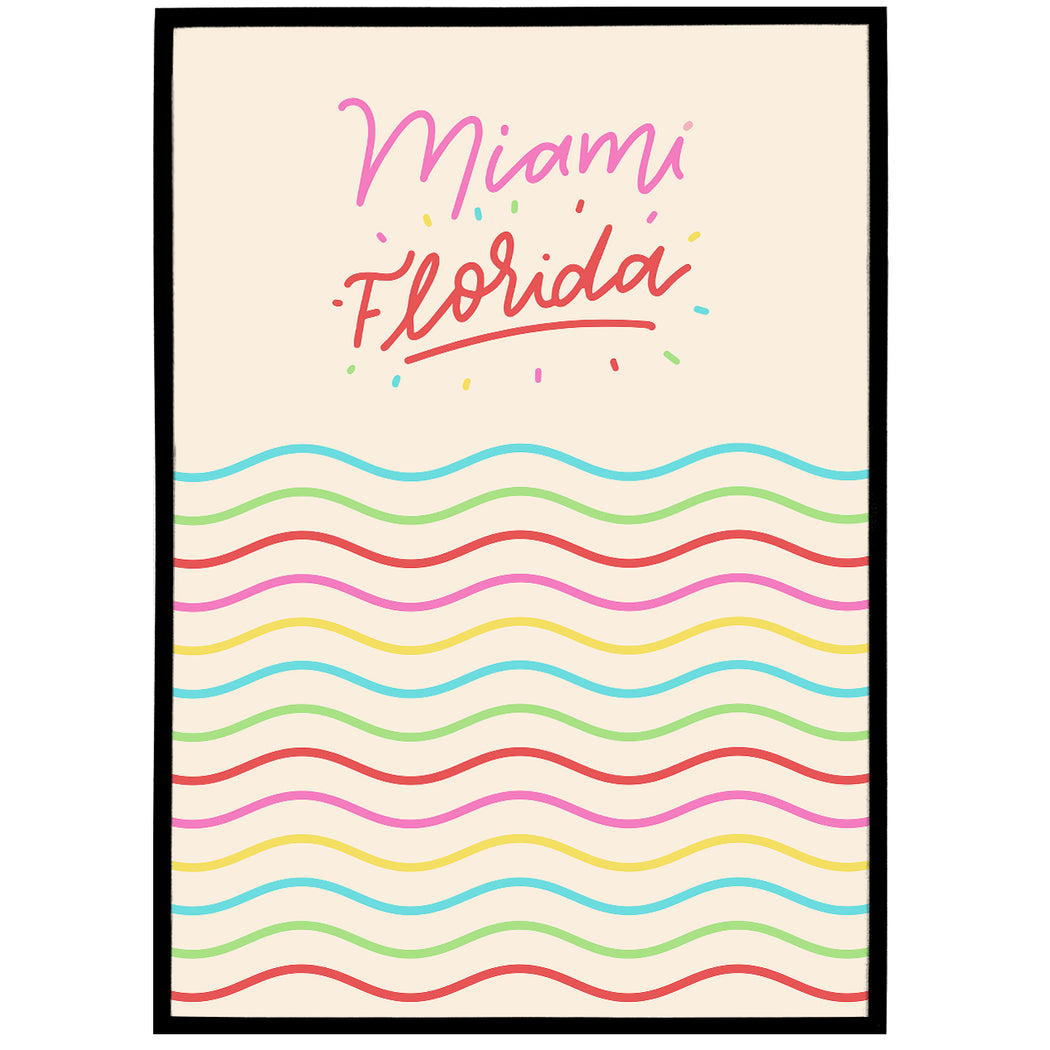 Colorful Florida Poster
