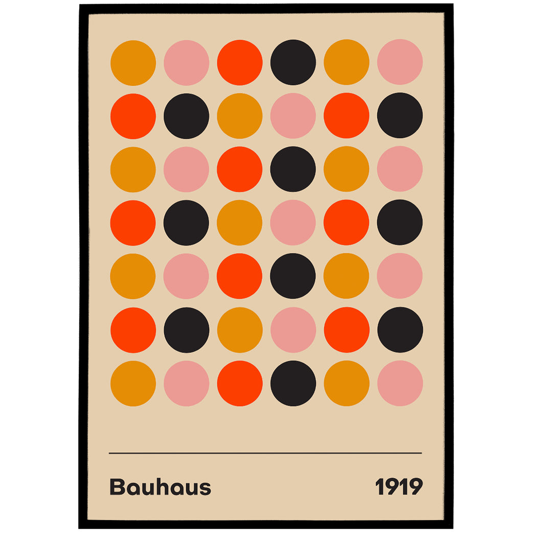 Bauhaus 1919 Poster - Shop posters, Art prints, Laptop Sleeves, Phone case and more Online!