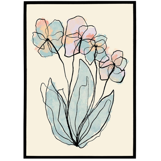 Floral Wall Art Print - Shop posters, Art prints, Laptop Sleeves, Phone case and more Online!
