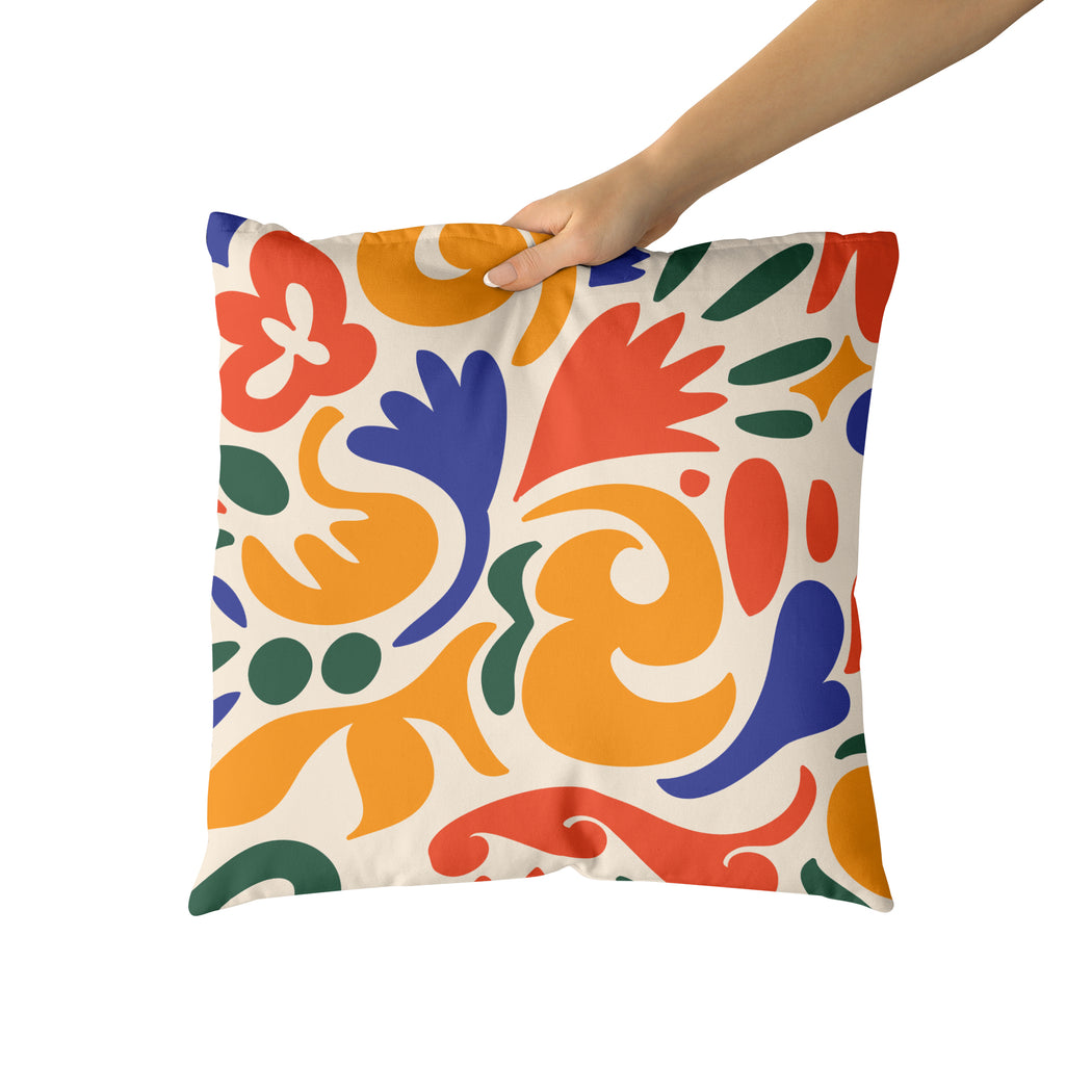 Unique Colorful Throw Pillow