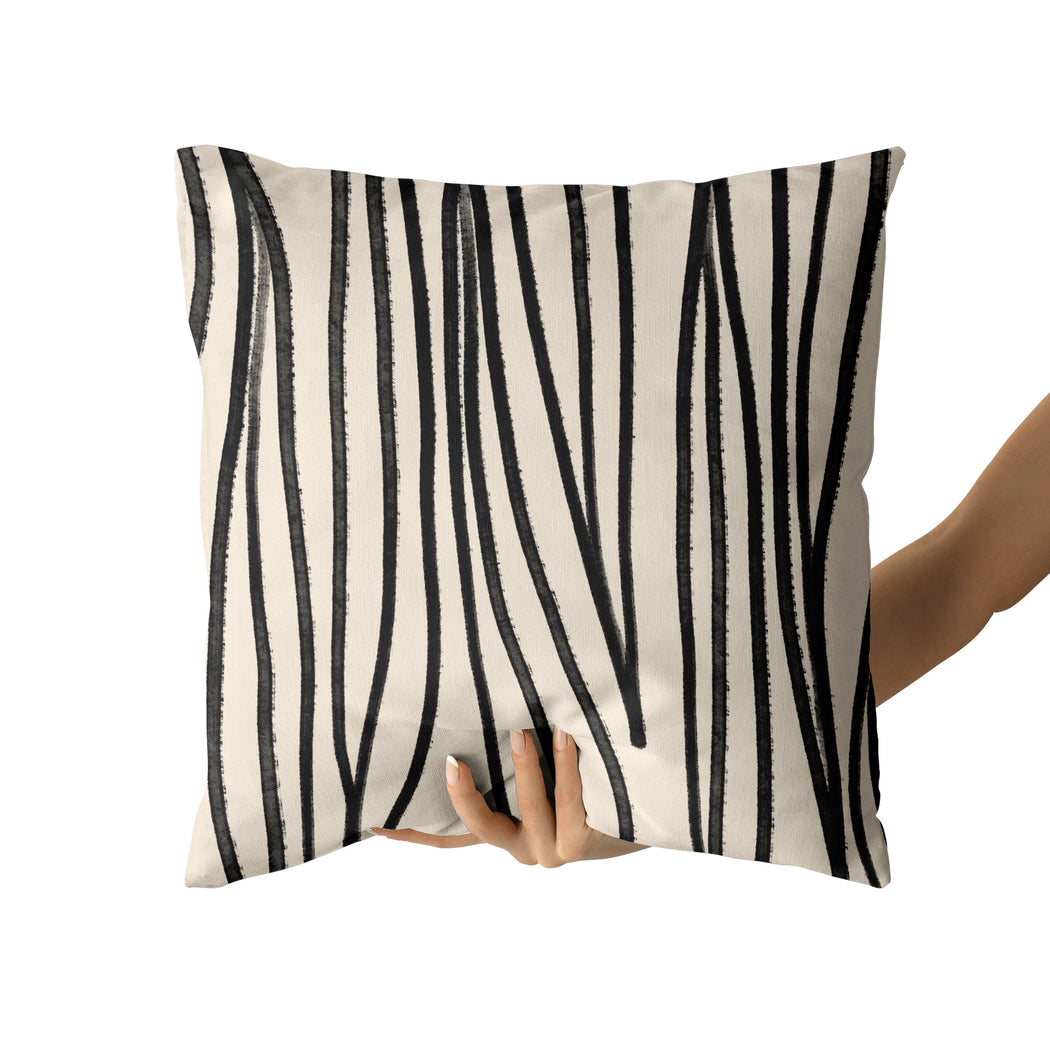 Pillow with Aesthetic Lines