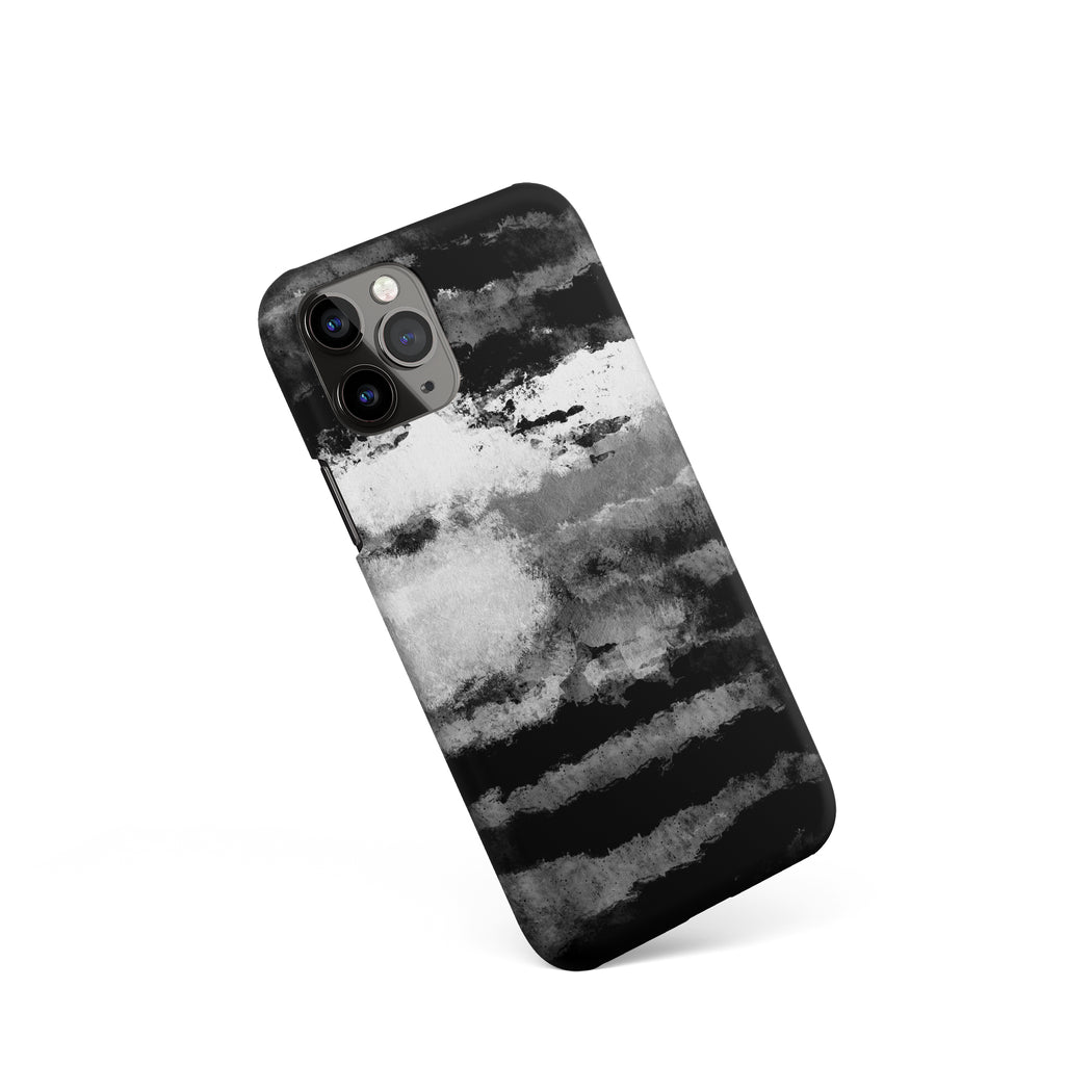 B&W Clouds Painting iPhone Case