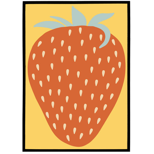 Retro Strawberry Print