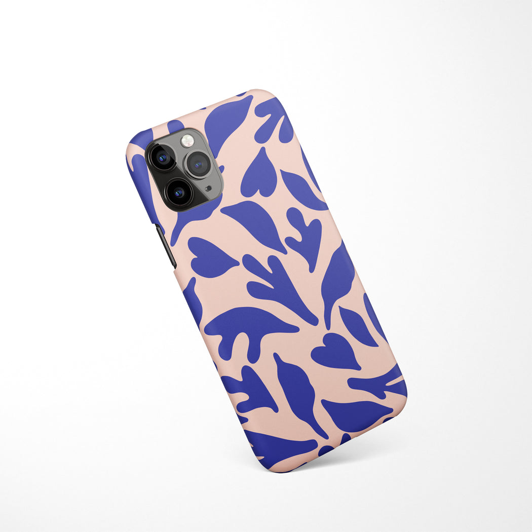 Blue and Pink iPhone Case