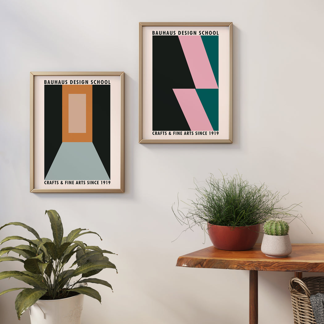 Set of 2 Bauhaus Art Posters