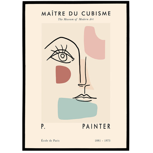 French Cubism Exhibition Poster
