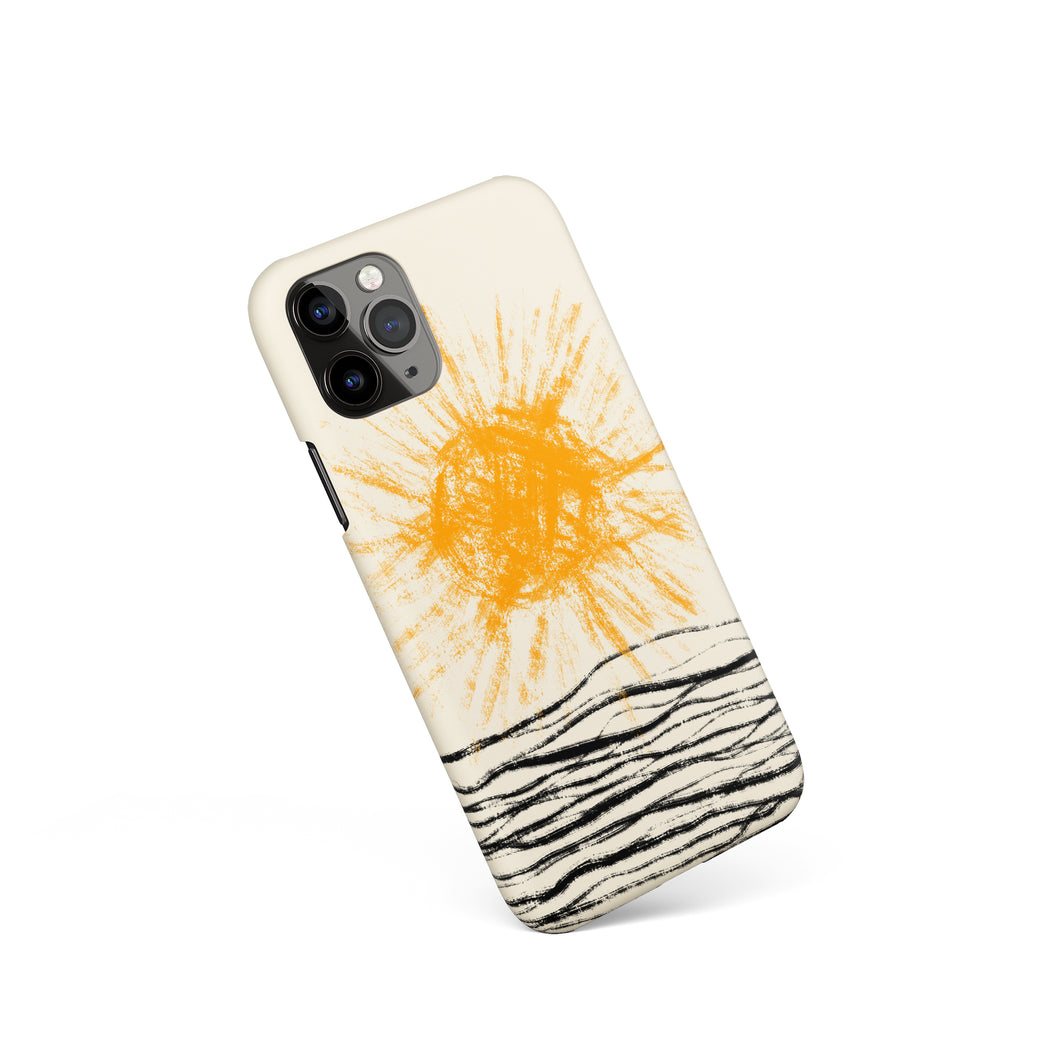 Handdrawn Sun iPhone Case