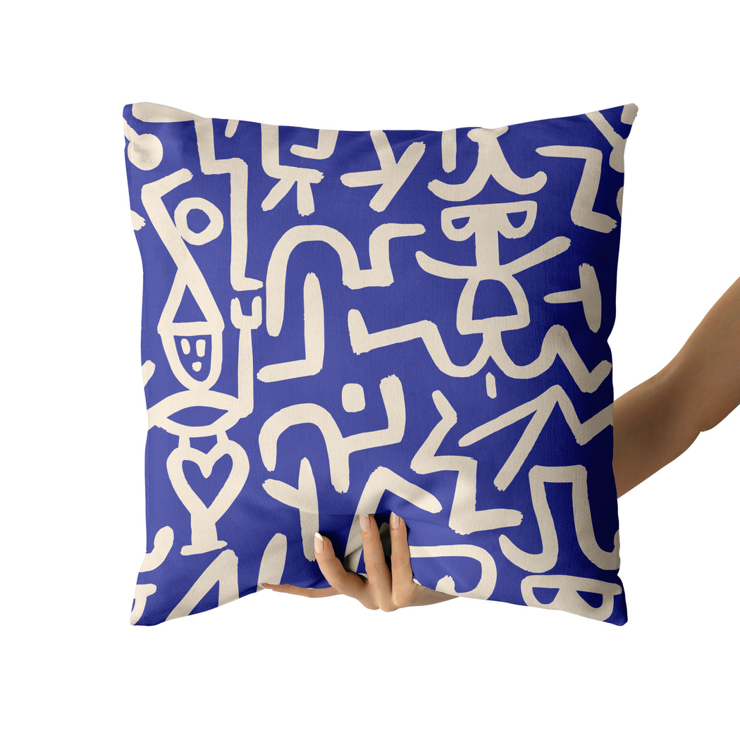 Pillow with P. Klee Artwork