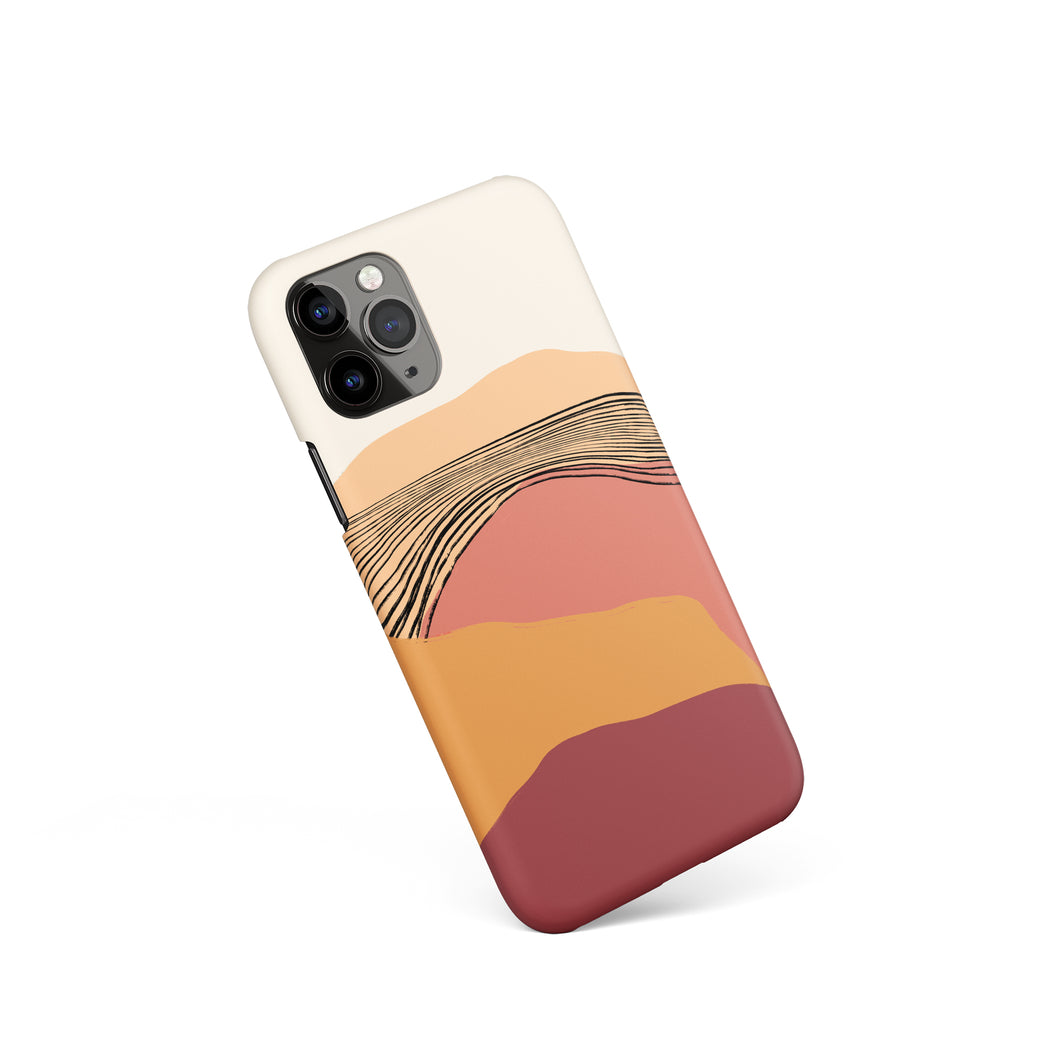 Warm Sunset Drawing iPhone Case
