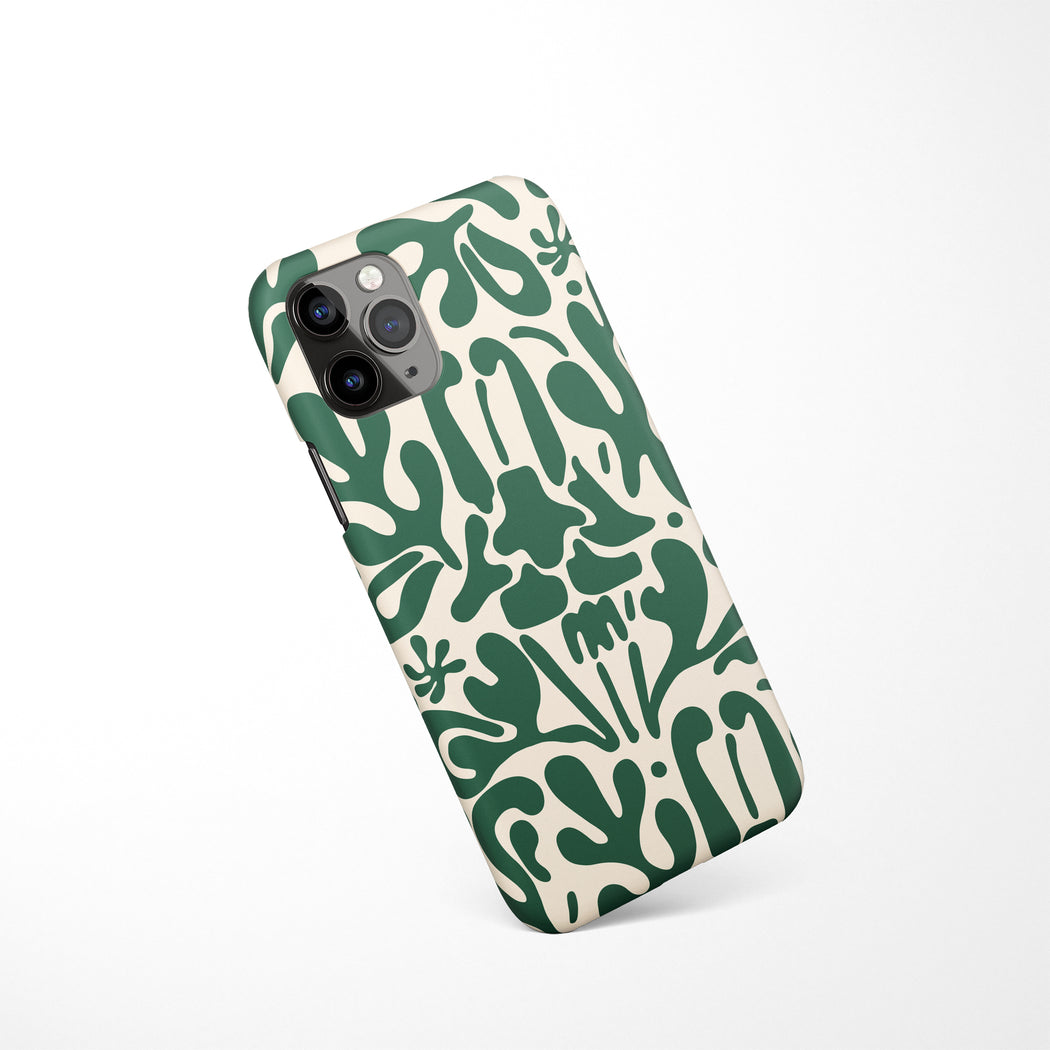 Green Art Deco iPhone Case