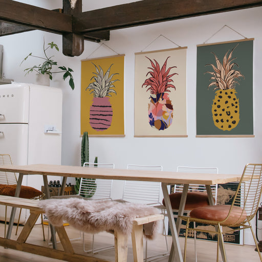 Set of 3 Pineapples Posters