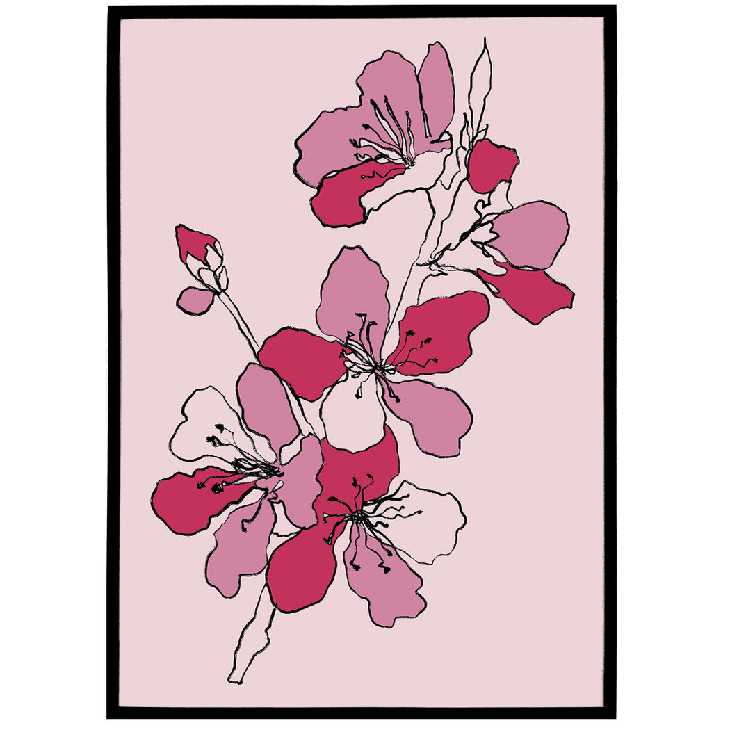 Cherry Blossom Print - Shop posters, Art prints, Laptop Sleeves, Phone case and more Online!