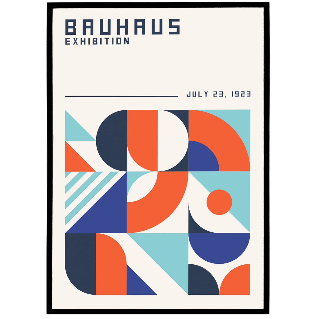 Bauhaus 1923 Poster - Shop posters, Art prints, Laptop Sleeves, Phone case and more Online!