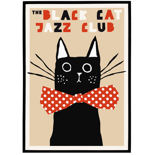 The Black Cat - Jazz Poster