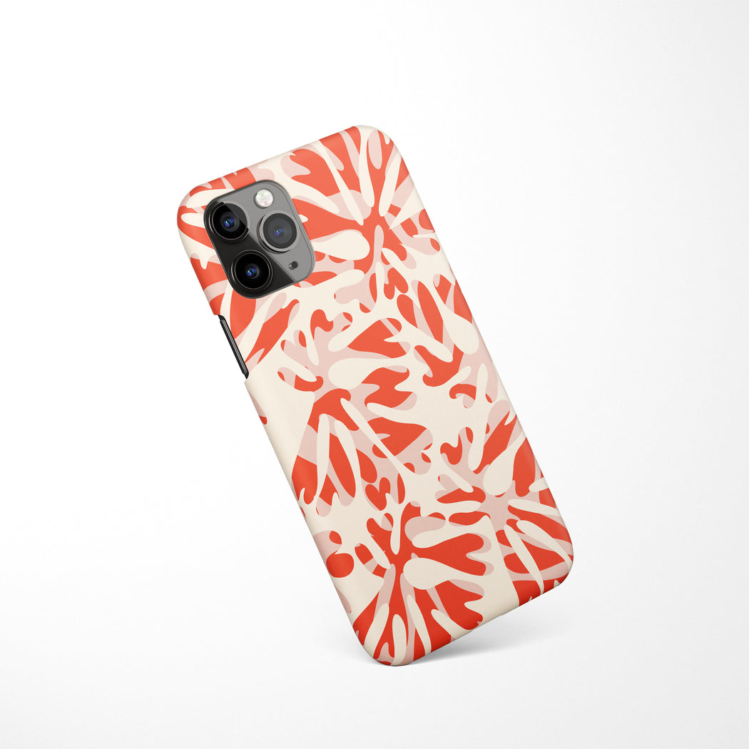Red and White iPhone Case