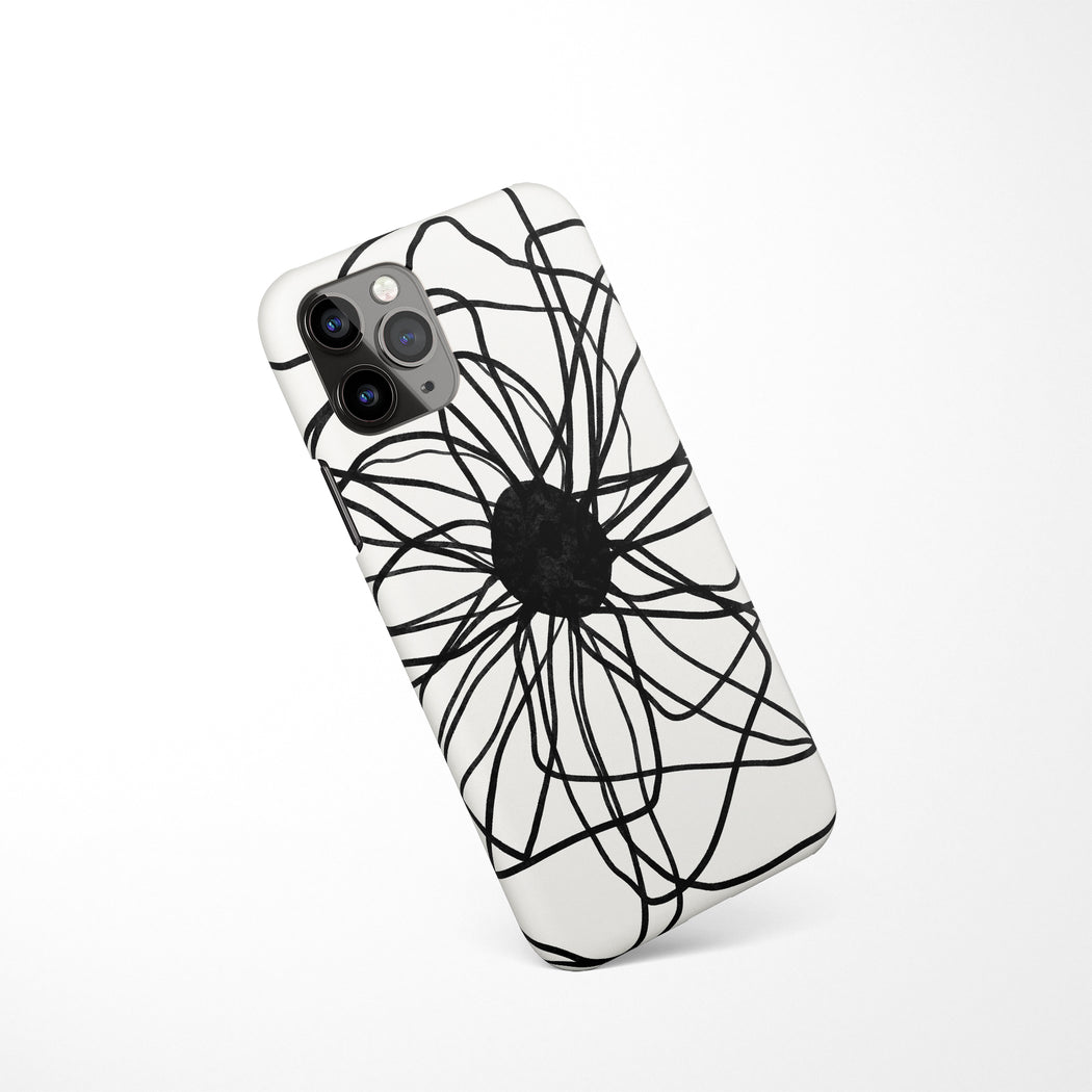 Abstract BW Drawing iPhone Case