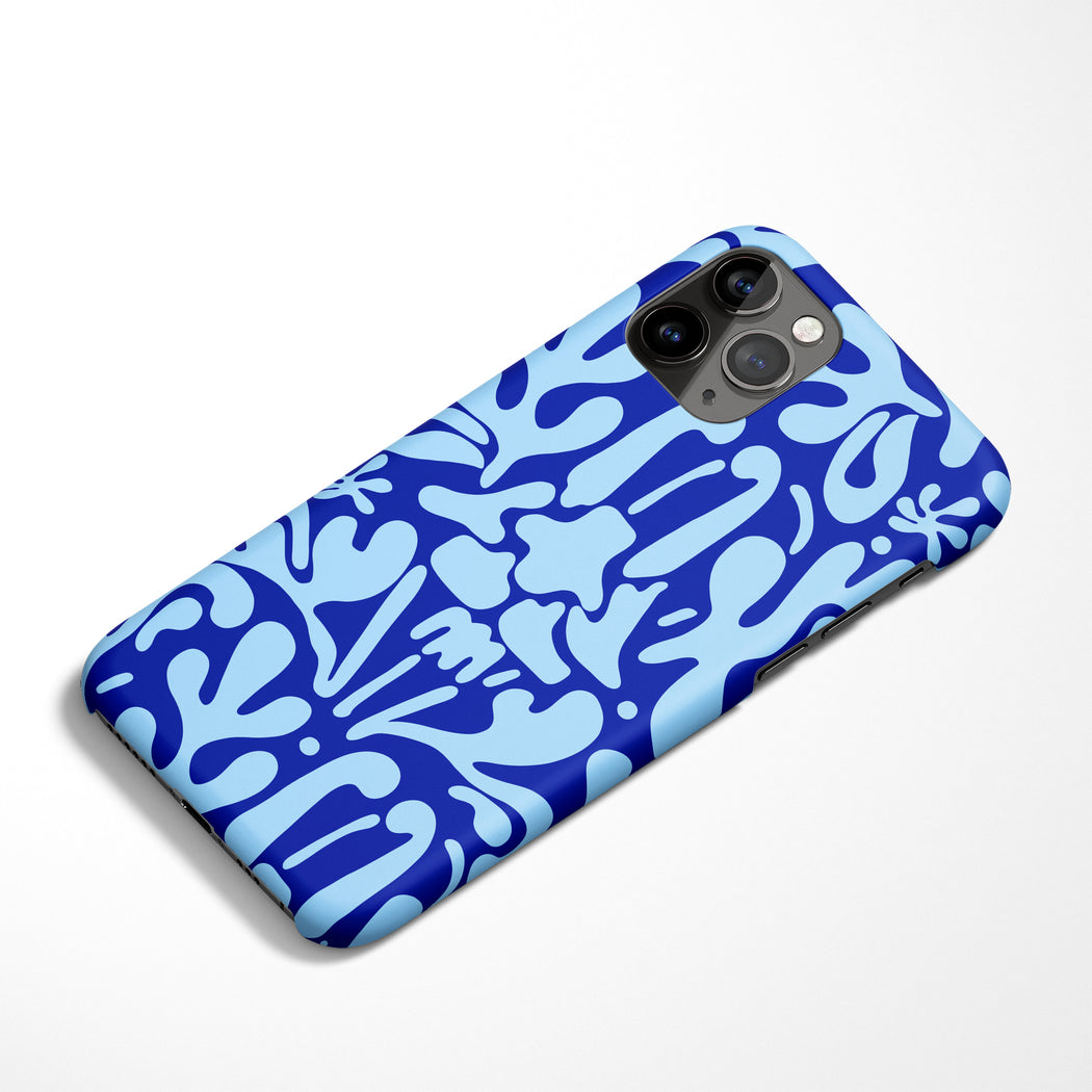 Blue Art Deco iPhone Case