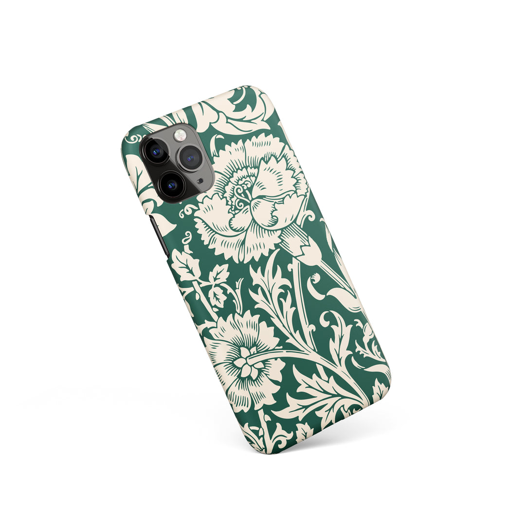 Green Floral iPhone Case