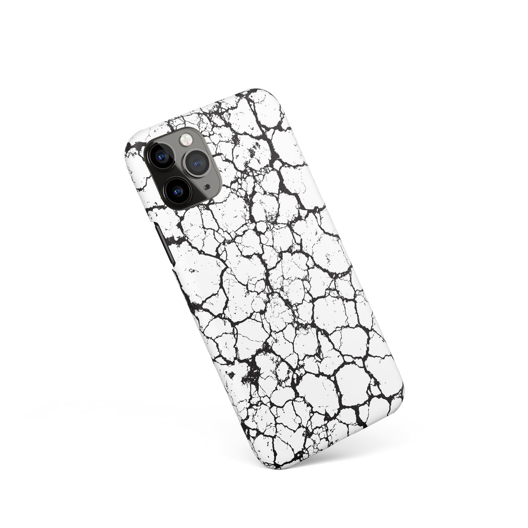 iPhone Case with Black&White Soil Print
