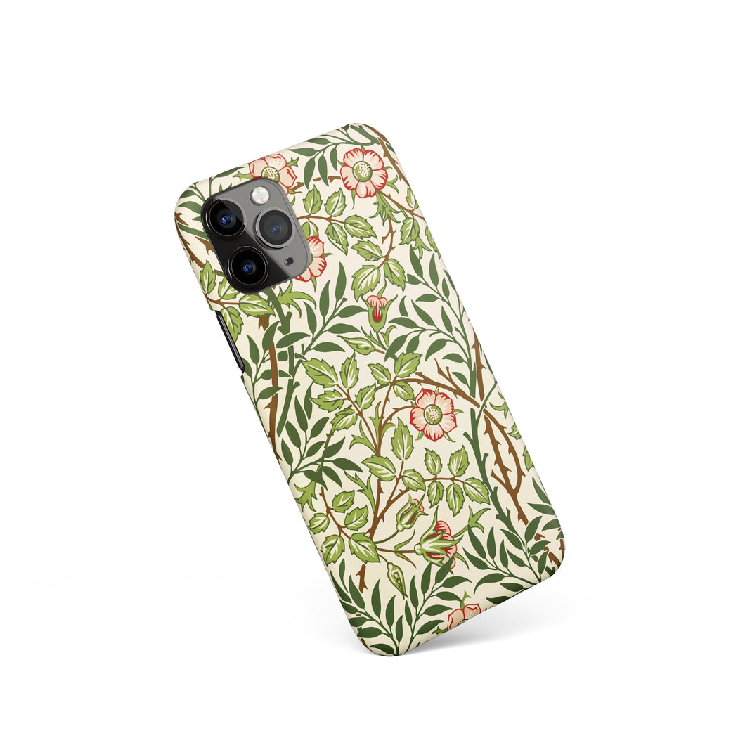 Vintage Floral Drawing - iPhone Case