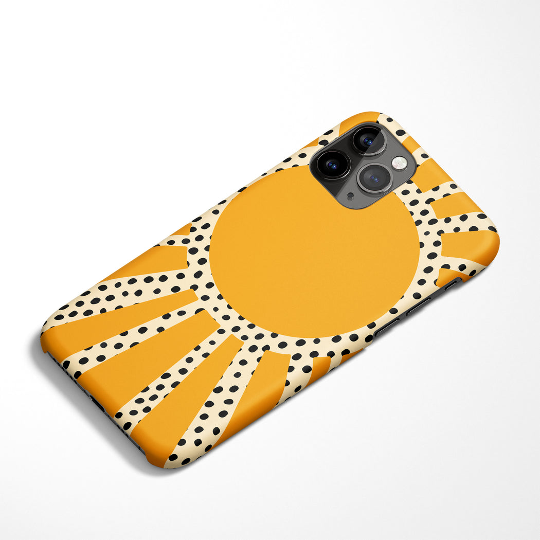 70s Inspired Sun iPhone Case