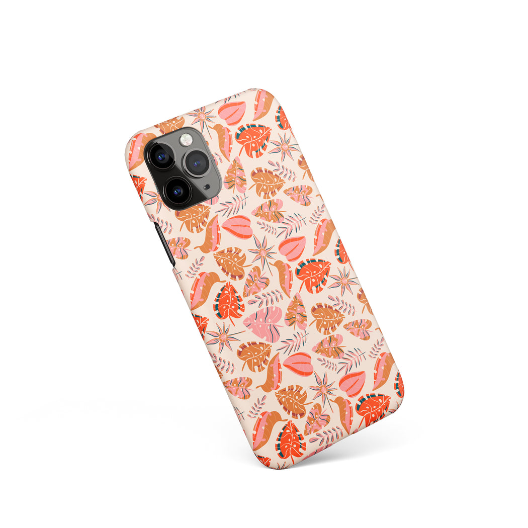 iPhone Case with Floral Cozy Pattern