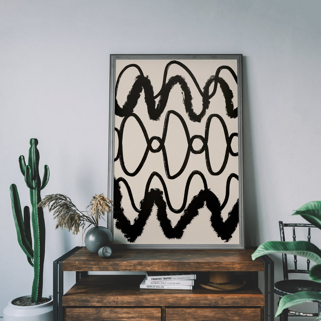 Abstract Black And White Print - Shop posters, Art prints, Laptop Sleeves, Phone case and more Online!