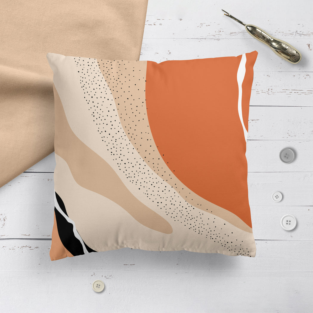 Throw Pillow with Abstract Art