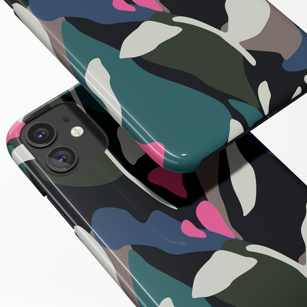 iPhone Case with Abstract Floral Pattern