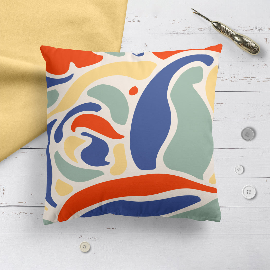Pillow with Retro Shapes