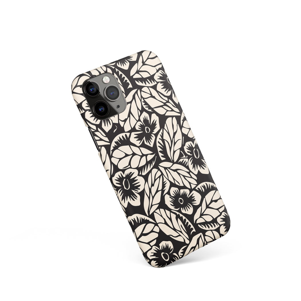 Linocut Flower iPhone Case