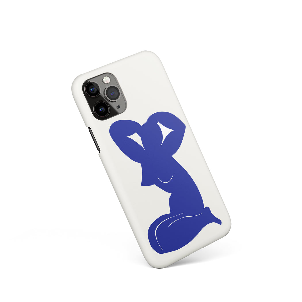 Nude Blue Woman iPhone Case